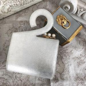 RARE Vintage Rodo Silver Suede Clutch Bag